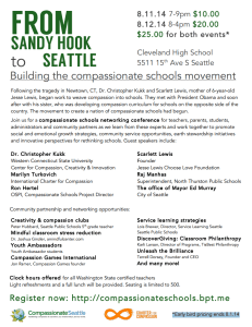 From Sandy Hook to Seattle - Building The Compassionate Schools Movement  @ Cleveland High School  | Seattle | Washington | United States