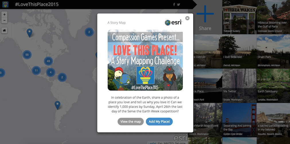 The Love This Place! Story Mapping Challenge: Crowdsourcing Compassion for Mother Earth